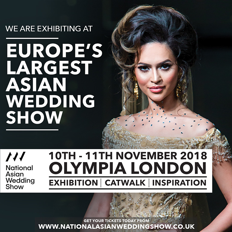 National Asian Wedding Show Olympia London 10th - 11th November 2018